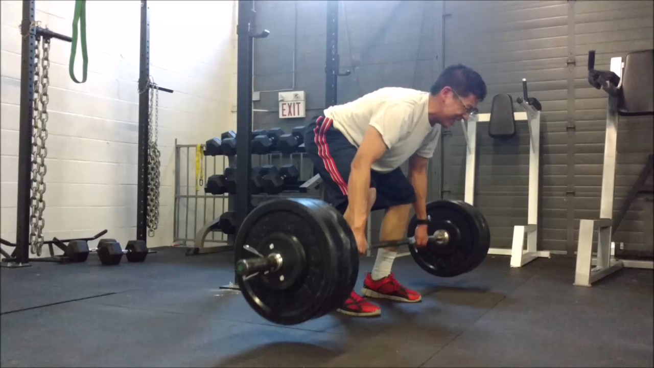Bad form pendlay row 235 for 3 reps - YouTube