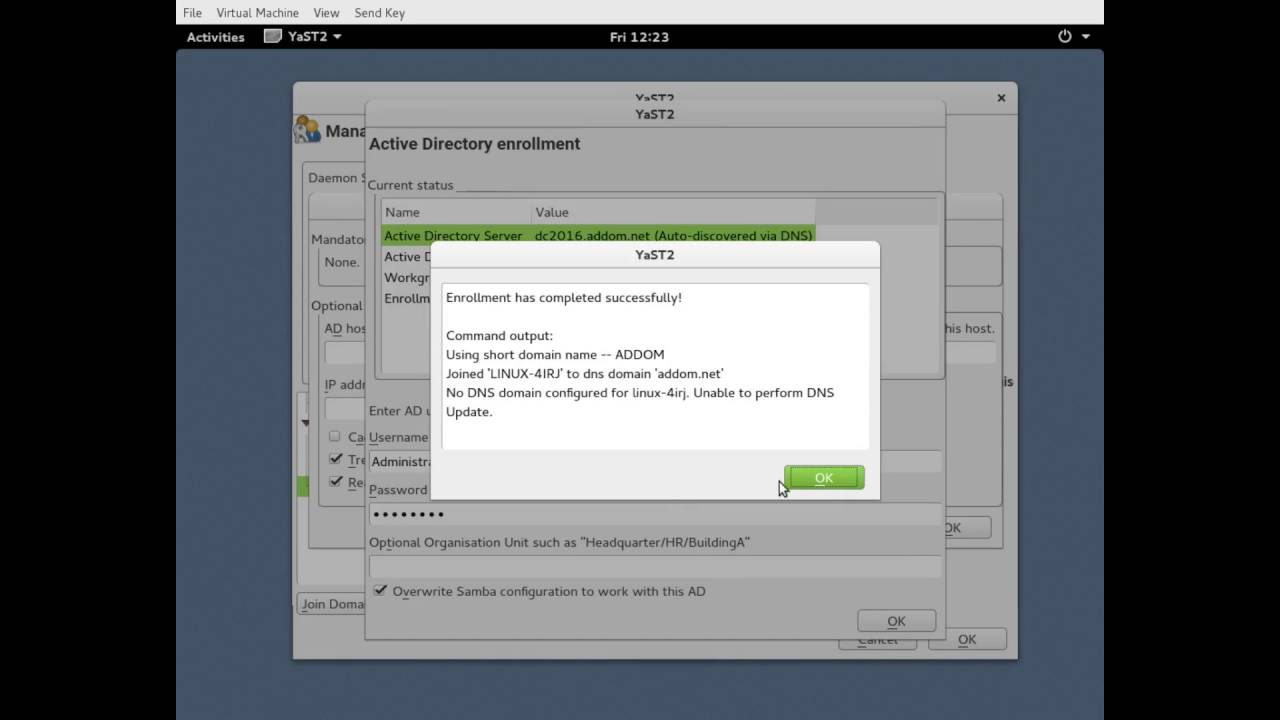 SSSD, Active Directory, and openSUSE
