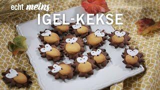 Knusprige Igel-Kekse für den Herbst
