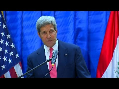 Kerry tells Iraq global coalition will defeat jihadists