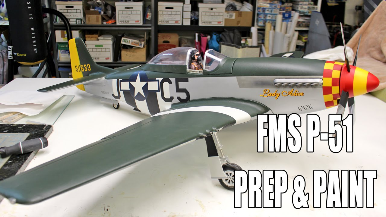 Refinish a Foam Warbird - FMS RC P-51 PAINTING!The RC Geek