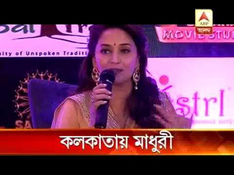 Madhuri Dixit in Kolkata for promotion of 'Gulab Gang'