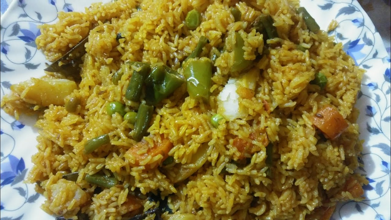 Veg Pulao I worlds no.1 veg recipe l muslim style veg pulao l cooker vegetable pulao