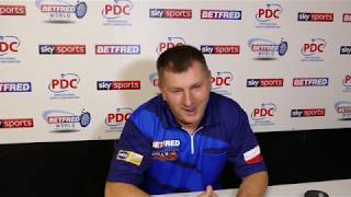 Krzysztof Ratajski delighted with first round victory over Darren Webster | World Matchplay 2019