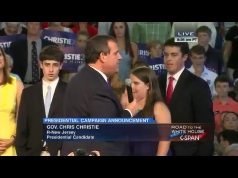 Governor Chris Christie Presidential Campaign Announcement