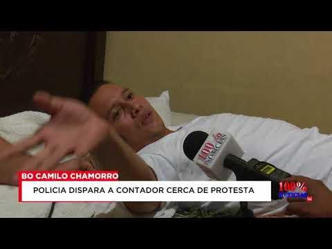 Policía de Nicaragua hiere a contador publico que no participaba de protesta