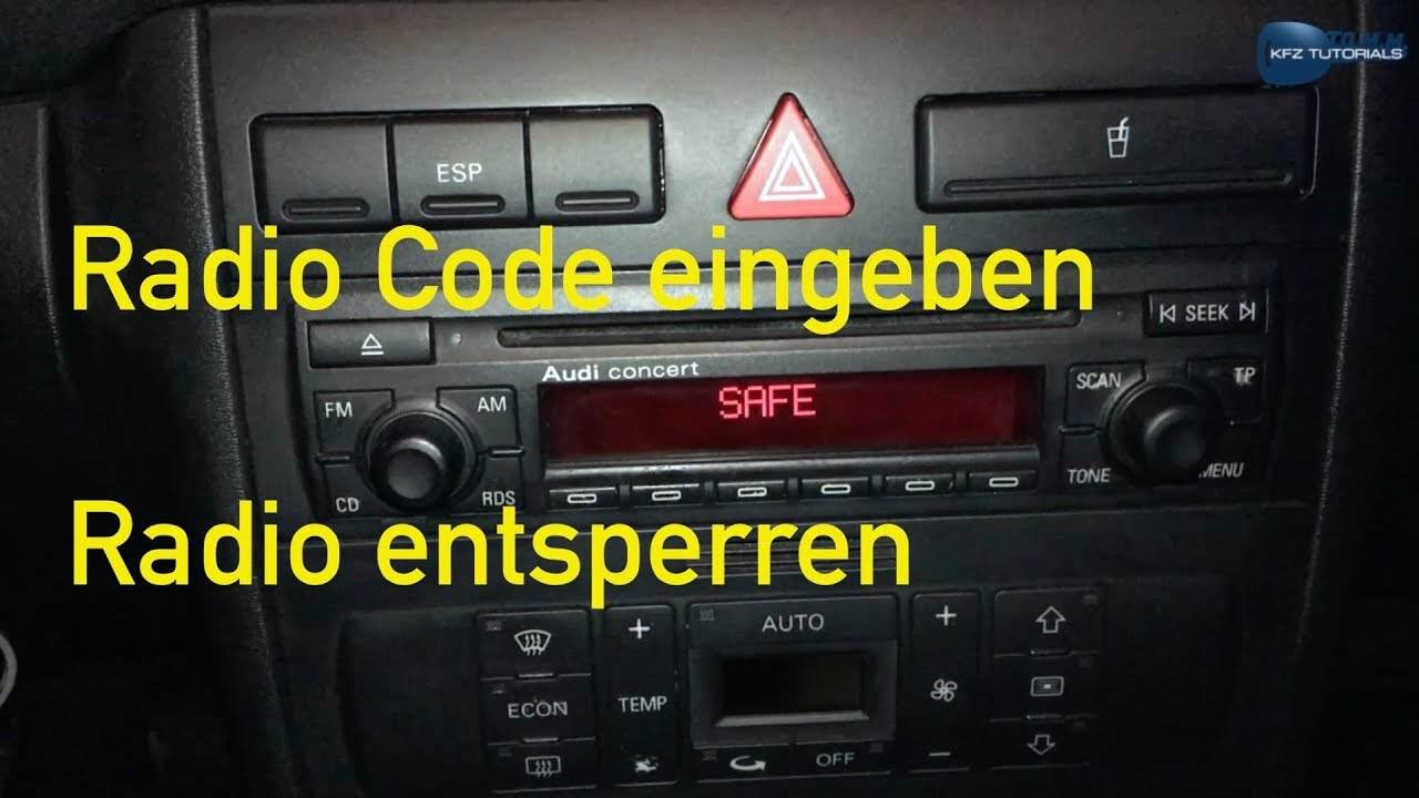 2 SAFE | AUDI RADIO SAFE MODE | HOW RESET SAFE MODE 2 | Разблокировка магнитолы Audi Concert RUS SUB