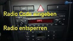 Entsperren Radio Code eingeben Audi VW Audi Concert