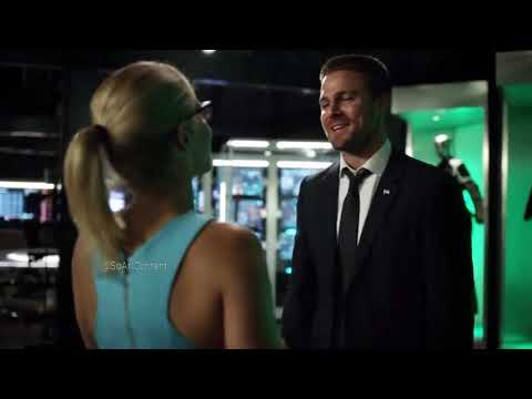 Arrow 6×01 Oliver remembers the island| Oliver and Felicity talks