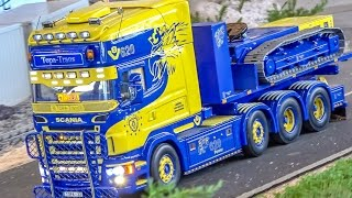 BIG RC truck action! SCANIA and more! Stunning R/C trucks!