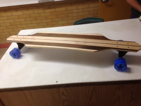 How to make a Longboard using Solid Wood for the top and bottom