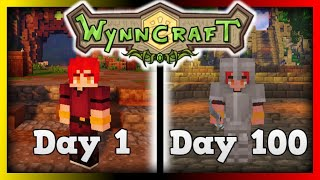 I Spent 100 Days in The Minecraft MMORPG WynnCraft, and this is what Happened