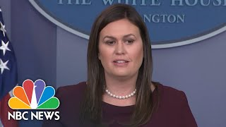 Sarah Huckabee Sanders Won't Confirm Tapes Don't Exist Of Donald Trump Using The 'N' Word | NBC News