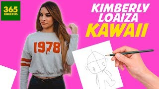 COMO DIBUJAR A KIMBERLY LOAIZA KAWAII - Aprende a dibujar Kiberly Loaiza mas kawaii que nunca