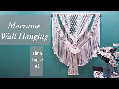 [time-lapse]-diy-simple-macrame-wall-hanging-#2