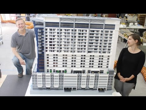 Construction of a 63,000 LEGO-piece Marriott