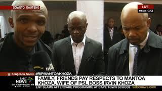 Soccer legends Moloi, Maponyane pay tribute to Mme Yvonne Khoza