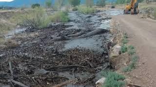 Flash flood outside to Canon City Colorado