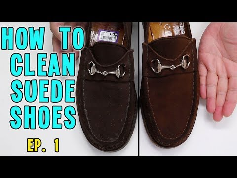 CLEANING MY GUCCI SHOES | HOW TO CLEAN SUEDE SHOES | SHOE REHAB EP. 1