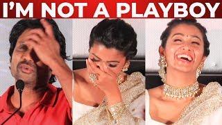 """""""I'm not a Playboy"""" SJ Surya Open Speech at Monster Press Meet"""