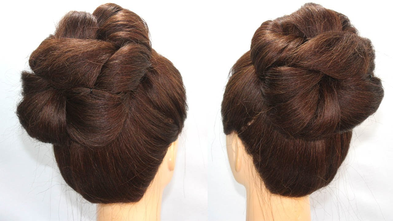 new bun hairstyle for thin hair || easy hairstyle || quick hairstyle || hair style girl