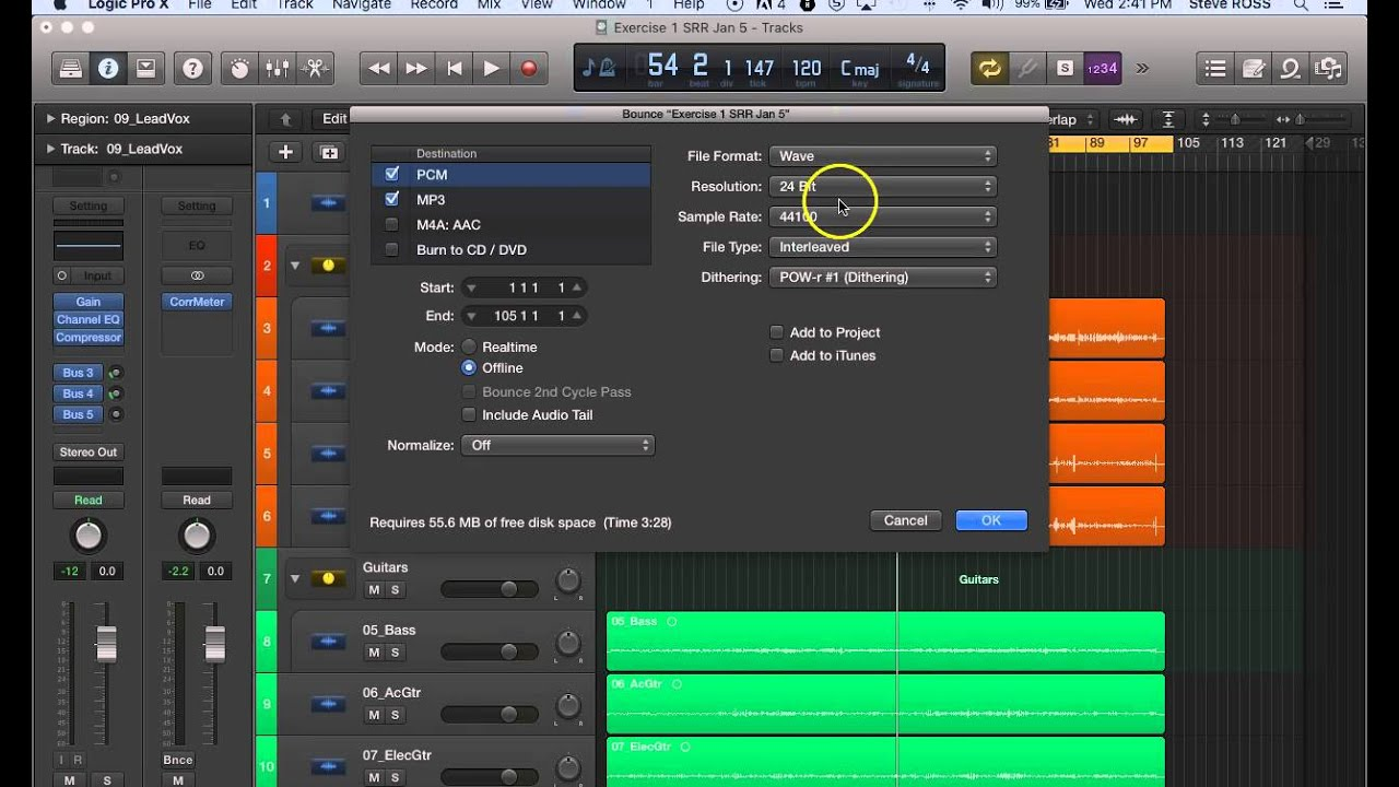 Download Bouncing your Project For Listening Or Mastering