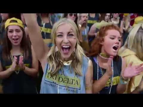 University of Arkansas - Delta Delta Delta - Bid Day 2016