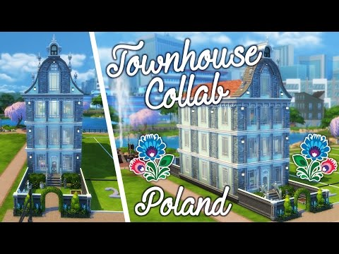 Townhouse Collab | Poland - Penapple | Sims 4 Speed Build