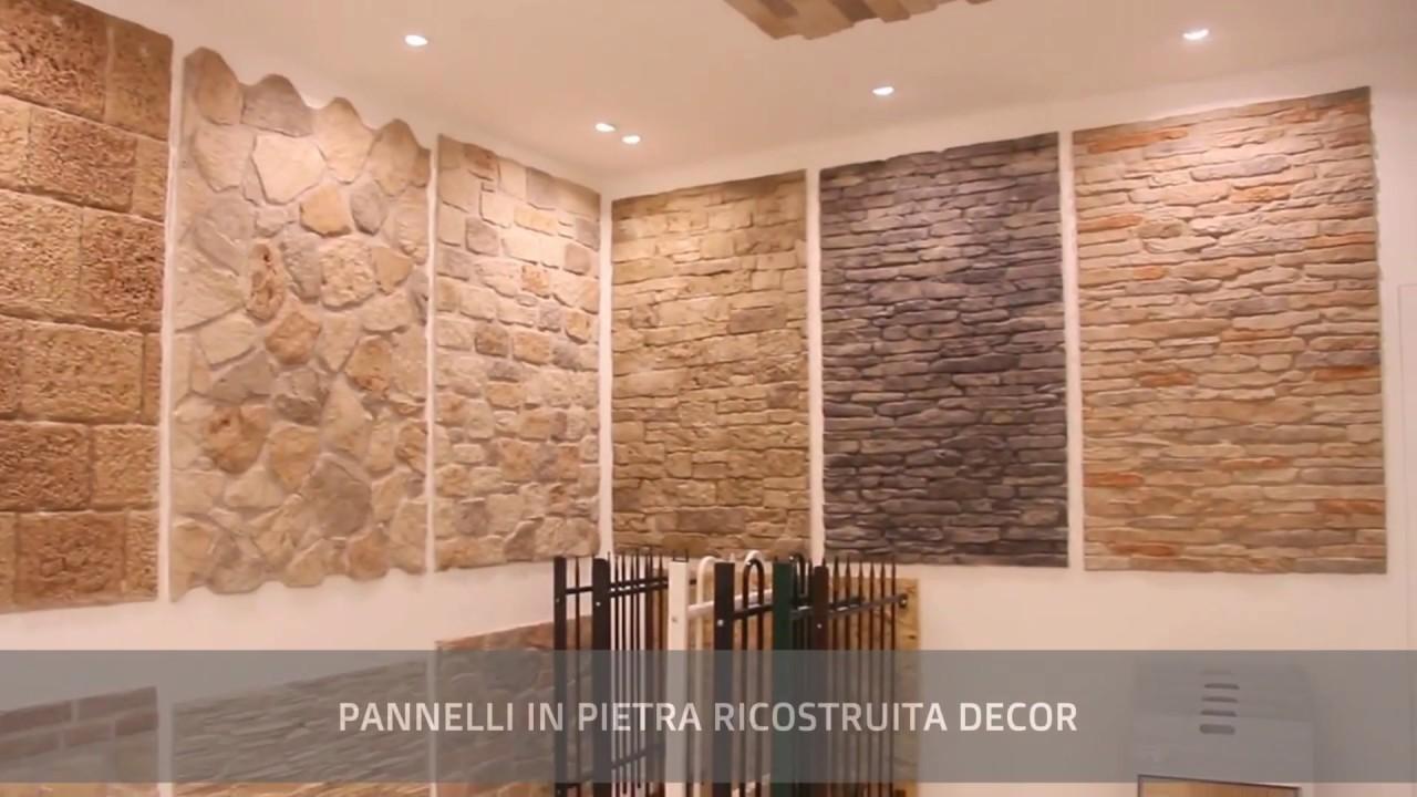 Pannelli in pietra ricostruita e gesso decor youtube for Finta pietra per interni leroy merlin