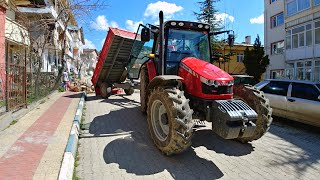 With the tractor, we took the wood to the town center! (VLOG # 4) | Massey Ferguson 5440 [GoPro]