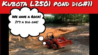 #11 digging pond with kubota compact tractor