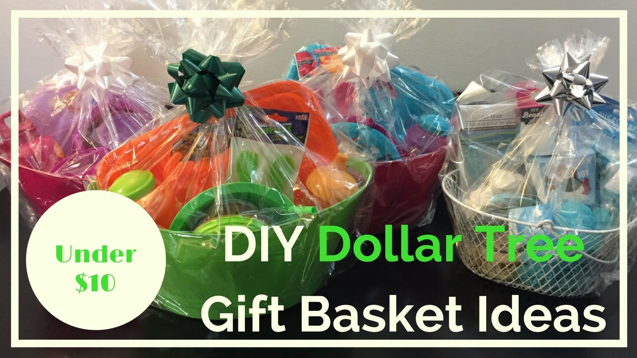 DIY Dollar Tree Gift Baskets Ideas | Christmas 2016 - YouTube