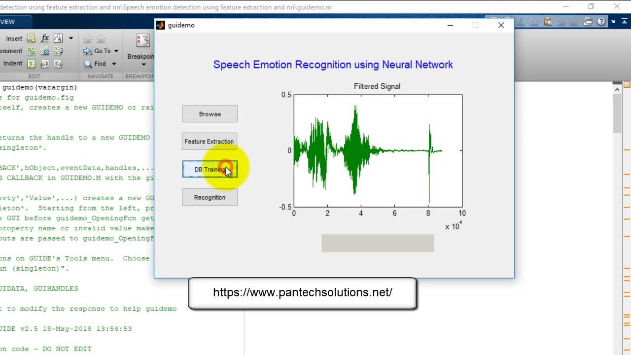 Speech Emotion Recognition System using Matlab