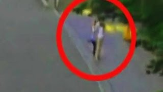 Real Ghost Girl Caught on Street Camera in Hong Kong!