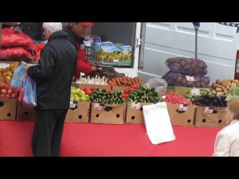 Конец апреля -  рынок в Горячем Ключе. Цены. Фрукты. Все показано как есть.