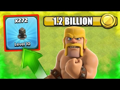 Clash Of Clans - FINALLY! - 1.2 BILLION GOLD LATER - ALL WALLS LEVEL 10!
