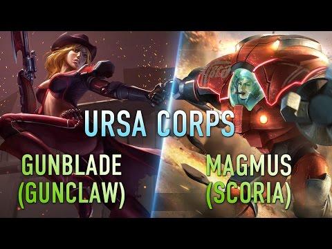 видео: ursa corps gunblade, magmus, и курьер