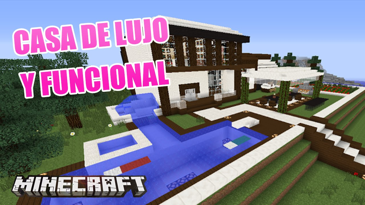 Minecraft casa de lujo y funcional hecha por kevin for Minecraft videos casas