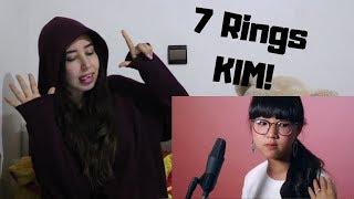 Gambar cover Ariana Grande - 7 Rings (KIM! Cover) _ REACTION