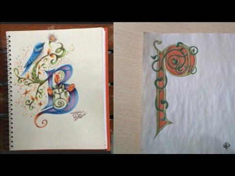 Letras CAPITULARES con iLustrando iDeas   Directo