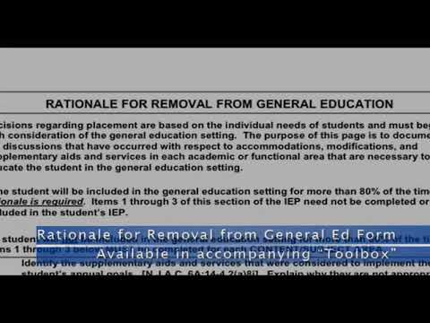 Assurances or Effects of Removal from General Education Classroom