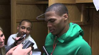 Ya Niggas Trippin Russell Westbrook Post Game Interview February 12, 2013 ORIGINAL