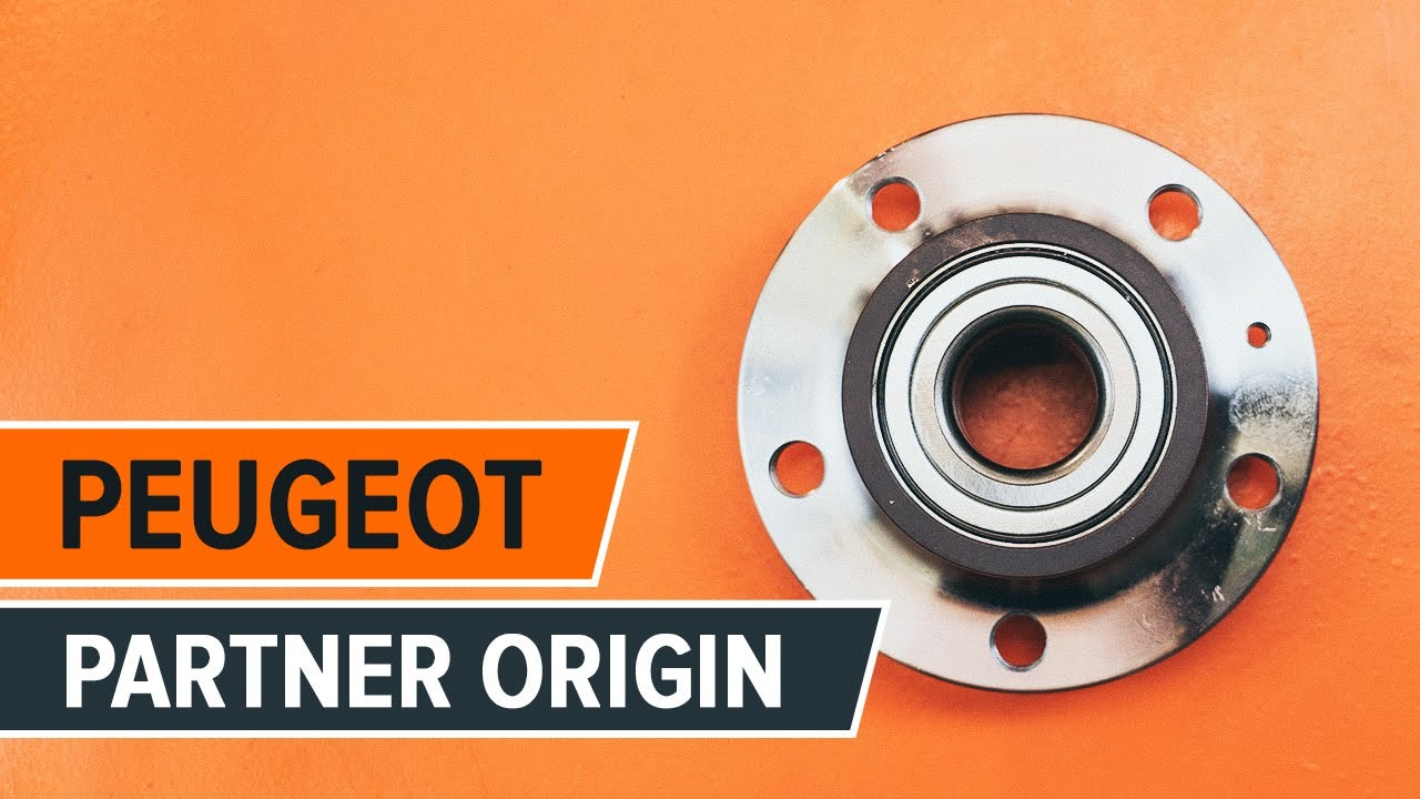 How to replace rear wheel bearing on    PEUGEOT    PARTNER