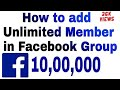 How To Add Unlimited Members In Facebook Group /