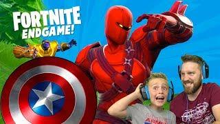 The AVENGERS vs Thanos! Fortnite Endgame Gameplay 2 | KidCity Gaming