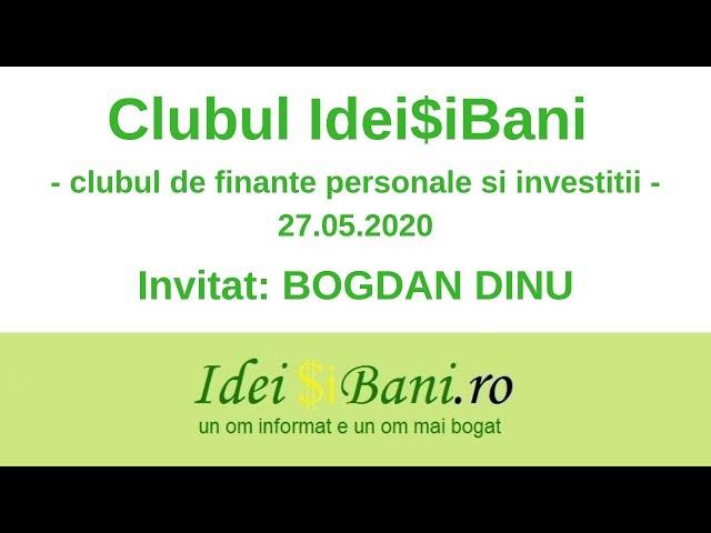 Clubul IdeiSiBani 27.05.2020