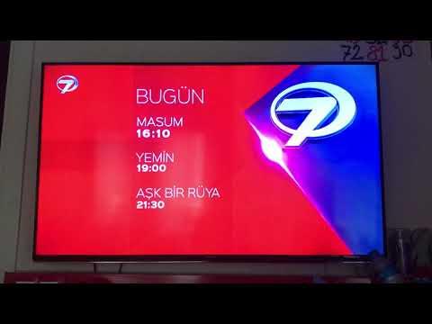Kanal 7-yayın akışı,yerli dizi ve akıllı işaretler jenerigi-7 yaş ve üzeri (2015