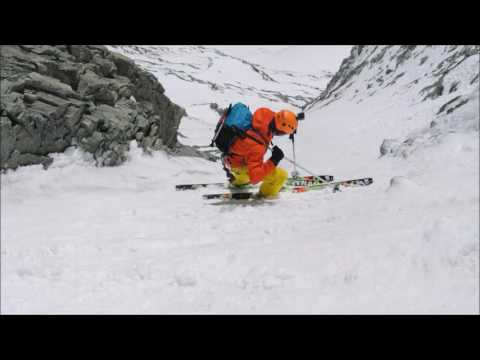 Hymani - Descente à ski de la face est du Cervin