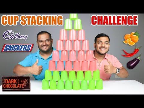 CUP STACKING CHALLENGE   Food Eating Challenge   Food Eating Competition   Food Challenge