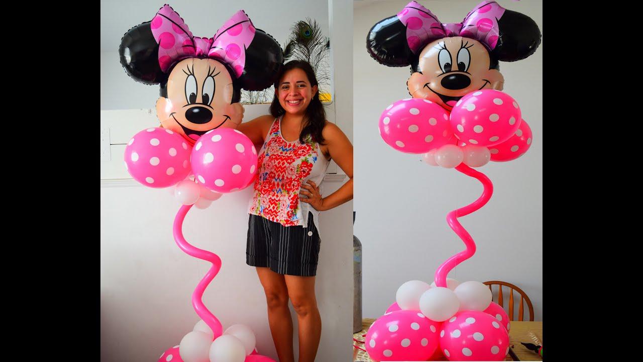 Faça você mesmo decoração para festa minnie mouse coluna